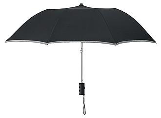 AZRAKEL deštník s reflexním prvkem, černá - reklamní deštníky