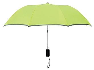 AZRAKEL Dvojitý deštník s reflexním prvkem, neonově zelená - reklamní deštníky