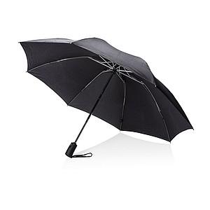 """Swis Peak 23"""" skládací automatický reverzní deštník, černá"""