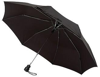 Skládací automatický deštník, černý