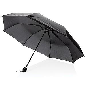 """21"""" manuální deštník s taškou, černá - reklamní deštníky"""