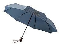 Automatický skládací deštník s drobným vzorem, námořní modrá