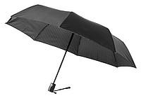 Skládací dvouvrstvý deštník se vzorováním, černá