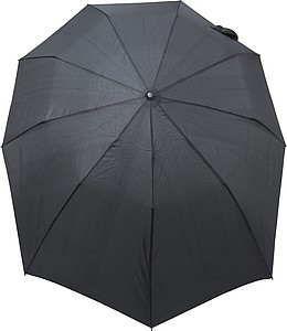 LAKAB Skládací automatický deštník, pr. 110cm, černý - pláštěnky