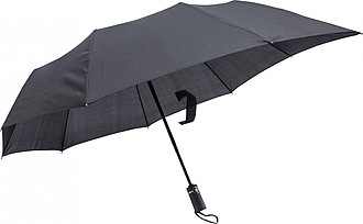 LAKAB Skládací automatický deštník, pr. 110cm, černý