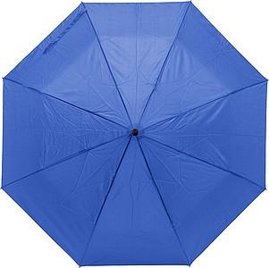 MIGORI Skládací deštník s taškou, modrý - reklamní kancelářské potřeby