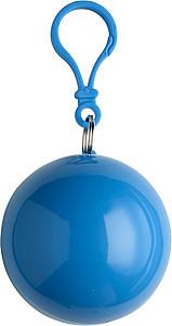 BALERÍNA Pláštěnka v přívěšku s karabinou, modrá