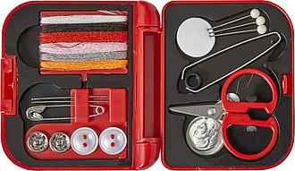 SARDINO Malé cestovní šitíčko v plastové krabičce, červené