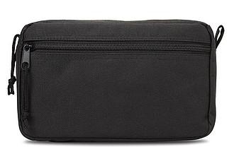 Kosmetická taška s dvojitým zipem, černá