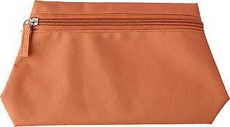 Polyesterová toaletní taška, oranžová ručníky s potiskem