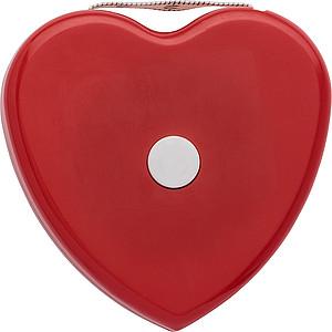 Metr na měření BMI ve tvaru srdce