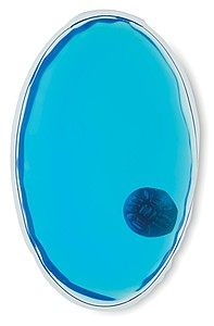 Oválný hřejivý polštářek, modrá