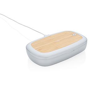 UV-C sterilizační box s bezdrátovým nabíjením 5W Rena, bílá