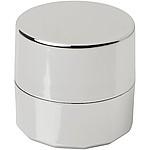 Metalický balzám na rty, krabička, stříbrná