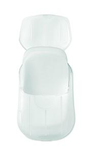 Mýdlové lístky, 20ks, v plastové krabičce, bílá transparentní