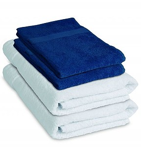 VS DEORIA SET 4 Sada 2 bílých osušek a 2 modrých ručníků – reklamní peněženka s potiskem