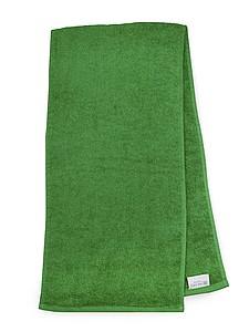 MASEWERA Sportovní ručník 30x130 cm 450 gr/m2, zelená