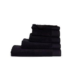 Ručník ONE DELUX 50x100 550 cm gr/m2, černá