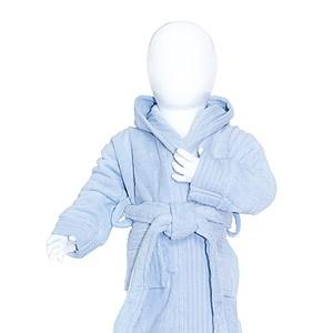 Dětský župan s kapucí 340 gr/m2, světle modrá, 68/74
