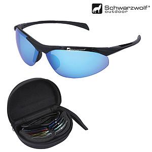 SCHWARZWOLF 4ALL sluneční brýle s výměnnými skly, v pouzdře - reklamní bundy