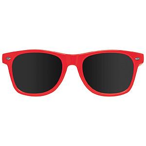 Plastové sluneční brýle s UV 400, červená