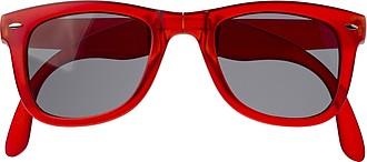 Skládací sluneční brýle s UV400, červené
