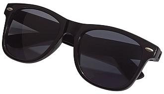 Plastové sluneční brýle, UV400, černé