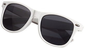 Plastové sluneční brýle, UV400, bílé
