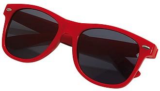 Plastové sluneční brýle, UV400, červené