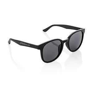 LERMO Eko sluneční brýle s obroučkami z lisované pšeničné slámy, černá