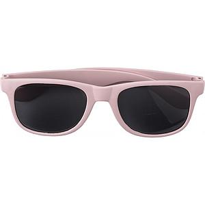 TANGERO Sluneční brýle, UV400, bambusové obroučky, červené