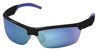 Sluneční brýle Elevate s modrými polarizačními skly, černá