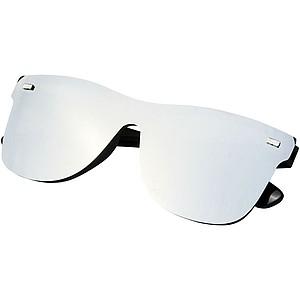 Moderní sluneční brýle se zrcadlovými skly, šedá