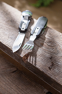 Multifunkční nůž, 7-dílný, nerezový, černá