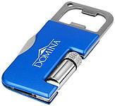 Kapesní nožík 3 v 1 s LED světlem a otvírákem, modrá