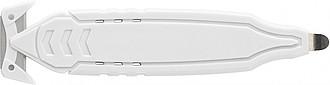 ROMAK Řezák s integrovaným ostřím, bílý - reklamní kancelářské potřeby