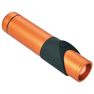 SCHWARZWOLF KAPILA bezpečnostní kapesní svítilna, oranžová – reklamní peněženka s potiskem