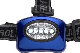DEEPLY Hliníková čelovka s 5 LED a 3 funkcemi, modrá