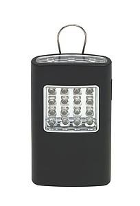 LIGHTO Svítilna s háčkem na zavěšení, černá