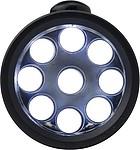 BASTER Svítilna s 9 LED a karabinou, černá