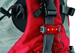 SCHWARZWOLF SOLE mini světlo s klipem a řetízkem na klíče - reklamní bundy