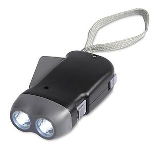 Dynamo 2 LED svítilna, s poutkem