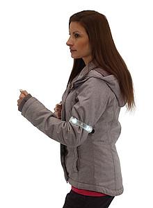 Bezpečnostní světlo s páskem na rameno, bílé