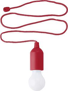 PULLER Svítilna ve tvaru žárovky, 1 LED, červená