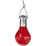 Solární LED svítilna Surya, červená
