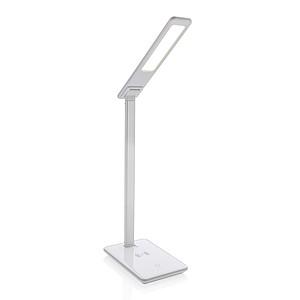 Stolní lampa s 5W bezdrátovým nabíjením, bílá