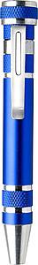 PENTOOL Šroubovák tvaru tužky s výměnnými hroty, modrý