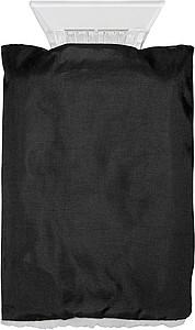 RACLE Škrabka na auto s rukavicí, černá