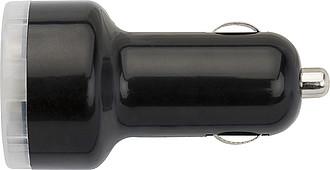 KEVAN Adaptér do autonabíječky se 2 USB porty, černý