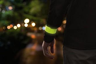 BELTO Reflexní svinovací pásek na ruku, žlutý